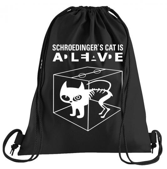 Schroedingers Cat Sportbeutel – bedruckter Turnbeutel mit Kordeln