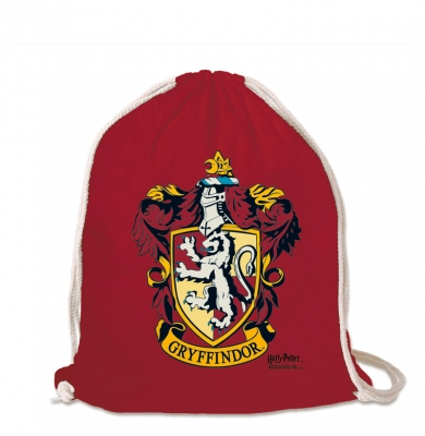 Logoshirt - Harry Potter - Gryffindor - Logo - Sportbeutel - Turnbeutel - rot - Lizenziertes Original Design