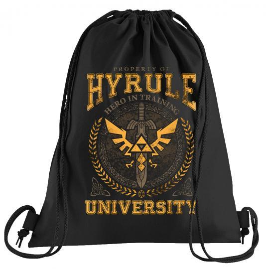 Hyrule University Sportbeutel – bedruckter Turnbeutel mit Kordeln