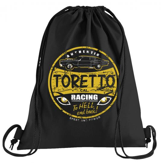 Toretto Racing Sportbeutel – bedruckter Turnbeutel mit Kordeln