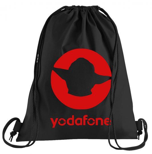 Yodafone Sportbeutel – bedruckter Turnbeutel mit Kordeln