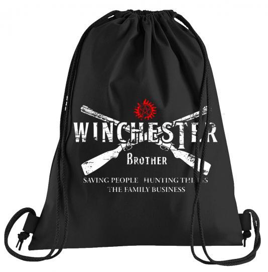 Winchester Bros 2 Guns Sportbeutel – bedruckter Turnbeutel mit Kordeln