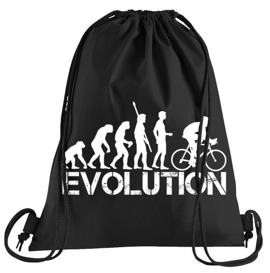 Evolution Bike Sportbeutel – bedruckter Turnbeutel mit Kordeln