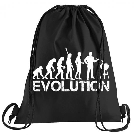 Evolution Grillen Sportbeutel – bedruckter Turnbeutel mit Kordeln