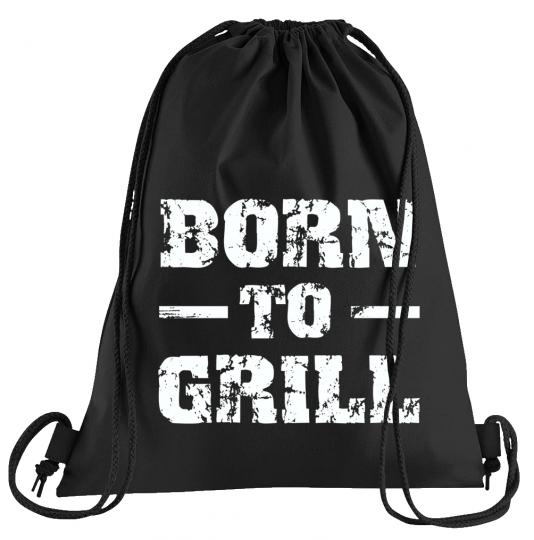 Born to Grill Sportbeutel – bedruckter Turnbeutel mit Kordeln