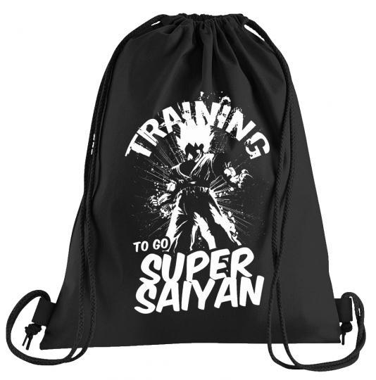 Super Saiyan Training Sportbeutel – bedruckter Turnbeutel mit Kordeln