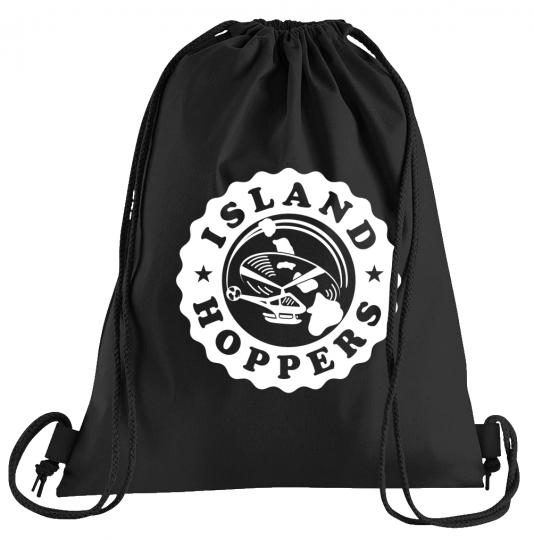 Island Hoppers Charter Sportbeutel – bedruckter Turnbeutel mit Kordeln