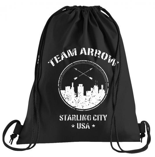 Team Arrow Sportbeutel – bedruckter Turnbeutel mit Kordeln
