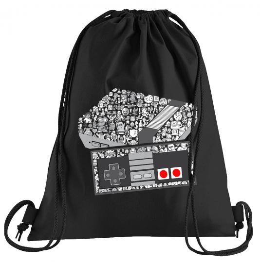 NES Konsole Game Sportbeutel – bedruckter Turnbeutel mit Kordeln