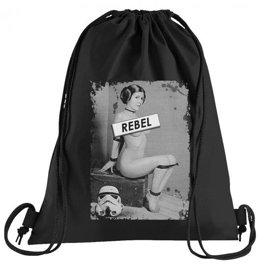 Rebel Leia Sportbeutel – bedruckter Turnbeutel mit Kordeln