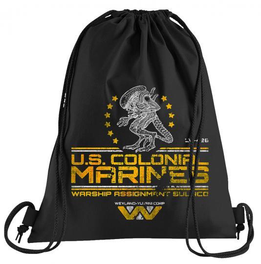US Colonial Marines Sportbeutel – bedruckter Turnbeutel mit Kordeln