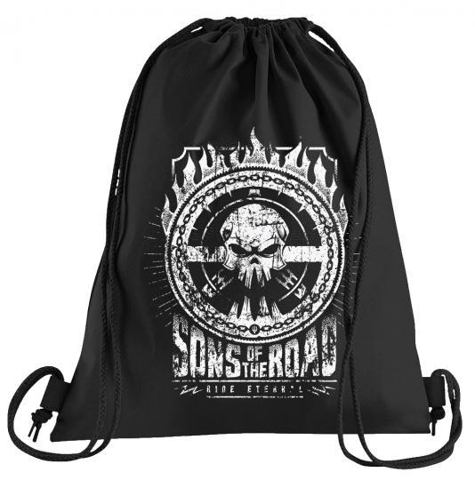 Sons of the Road Sportbeutel – bedruckter Turnbeutel mit Kordeln