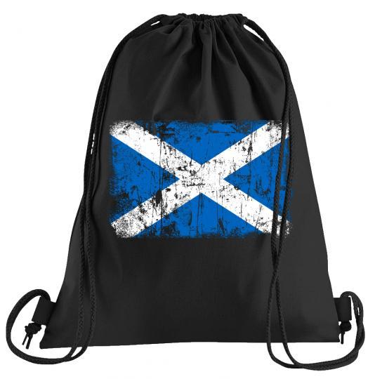 Schottland Vintage Flagge Fahne Sportbeutel – bedruckter Turnbeutel mit Kordeln
