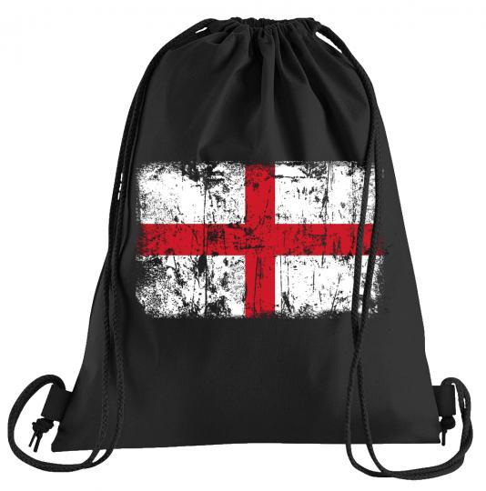 England Vintage Flagge Fahne Sportbeutel – bedruckter Turnbeutel mit Kordeln