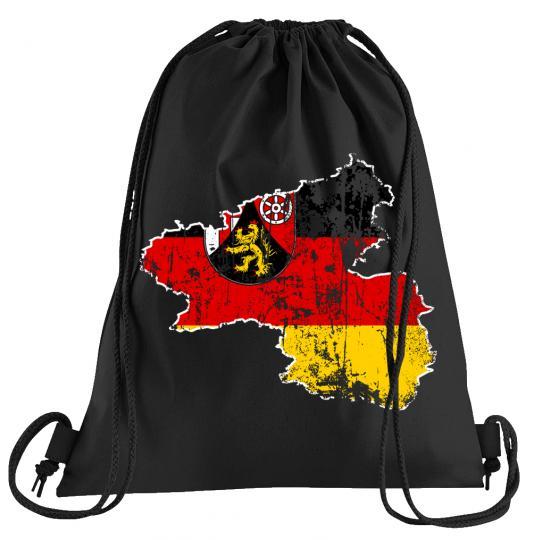 Rheinland Pfalz Bundesland Sportbeutel – bedruckter Turnbeutel mit Kordeln