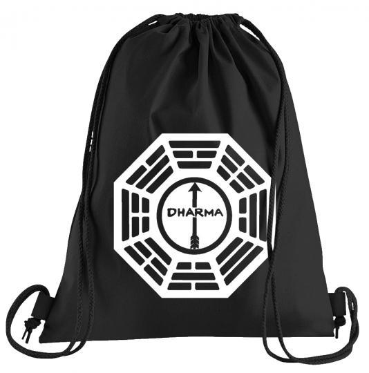 Dharma Lost The Arrow Logo Sportbeutel – bedruckter Turnbeutel mit Kordeln