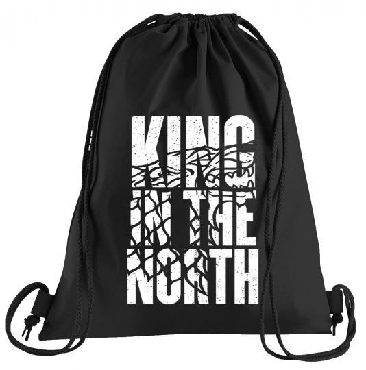 King in the North Sportbeutel – bedruckter Turnbeutel mit Kordeln