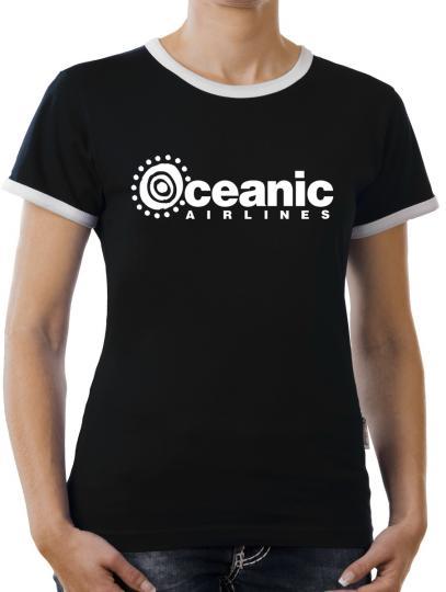 TLM Oceanic Airline Kontrast T-Shirt Damen