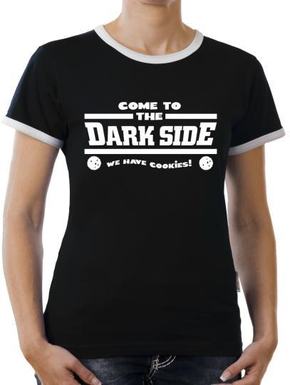 TLM Come to the Darkside... Kontrast T-Shirt Damen
