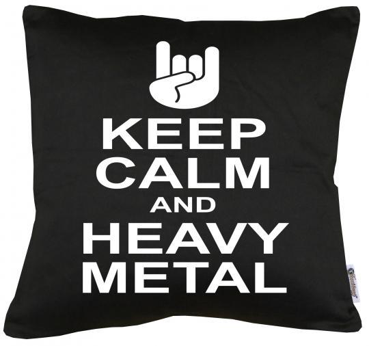 Keep Calm and Heavy Metal Kissen mit Füllung 40x40cm