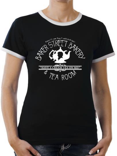 TLM Baker Street Bakery Kontrast T-Shirt Damen