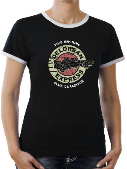 TLM Delorean Express DMC-12 Kontrast T-Shirt Damen