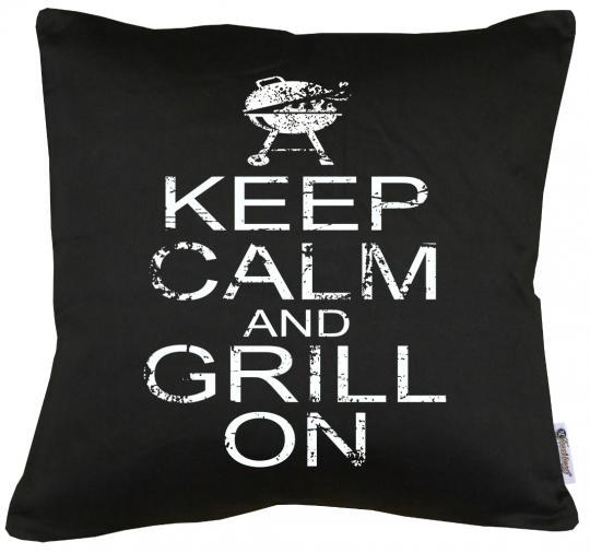 Keep Calm and Grill on Kissen mit Füllung 40x40cm