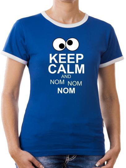 TLM Keep Calm and Nom Nom Kontrast T-Shirt Damen