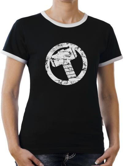 TLM Thor Hammer Kontrast T-Shirt Damen