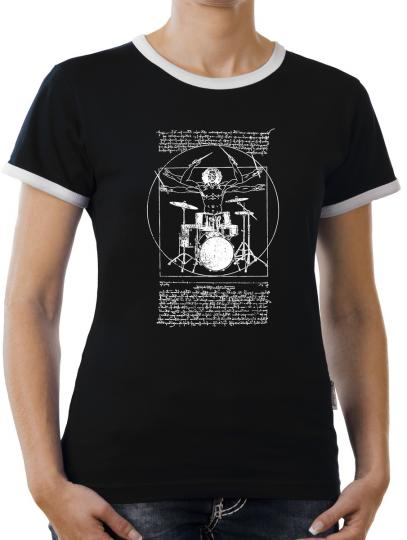 TLM Da Vinci Beats Kontrast T-Shirt Damen