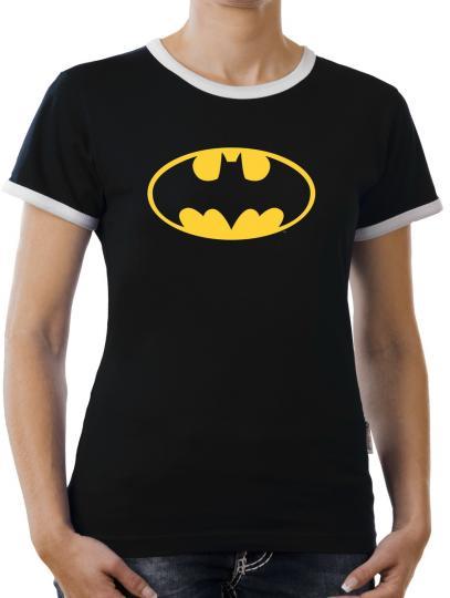 TLM Batman Logo Kontrast T-Shirt Damen