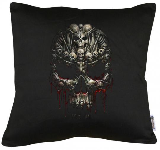 Skull Art Kissen mit Füllung 40x40cm