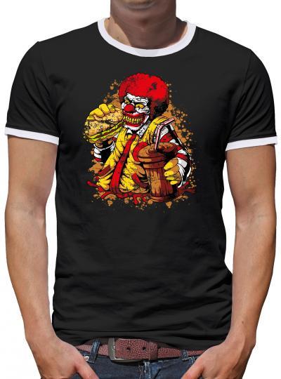 Ronald Zombie Mc Clown Kontrast T-Shirt Herren