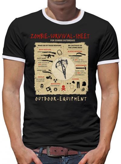 Survive Sheet Kontrast T-Shirt Herren
