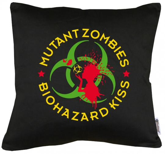 Mutant Zombie Biohazard Kissen mit Füllung 40x40cm