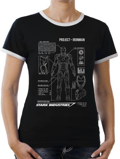 TLM Project Ironman Kontrast T-Shirt Damen