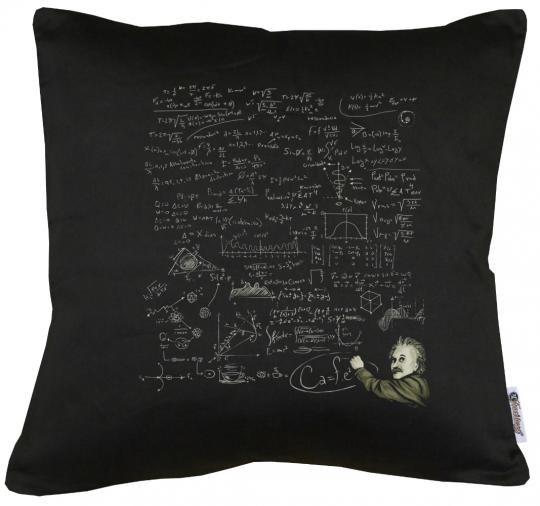 Einstein E=MC2 Kissen mit Füllung 40x40cm