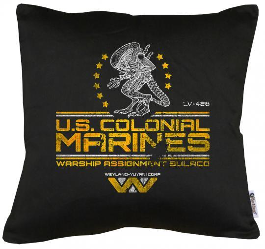 US Colonial Marines Kissen mit Füllung 40x40cm