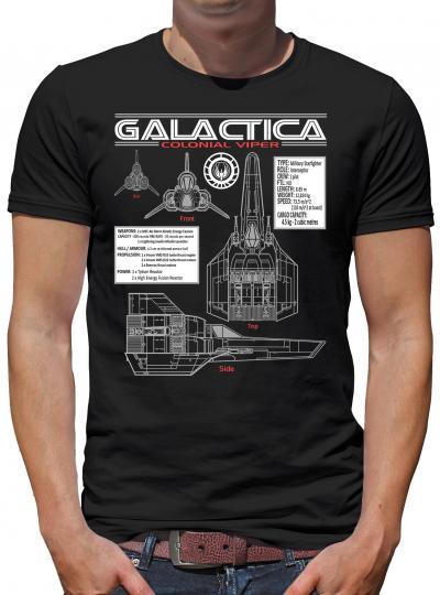 Galactica Viper Blueprint T-Shirt