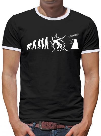 Who Exterminate Kontrast T-Shirt Herren
