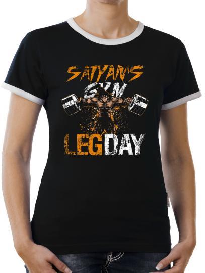 TLM Saiyans Gym Legday Kontrast T-Shirt Damen
