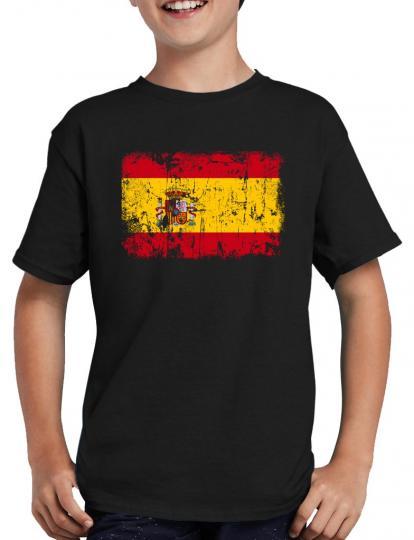 Spanien Vintage Flagge Fahne T-Shirt