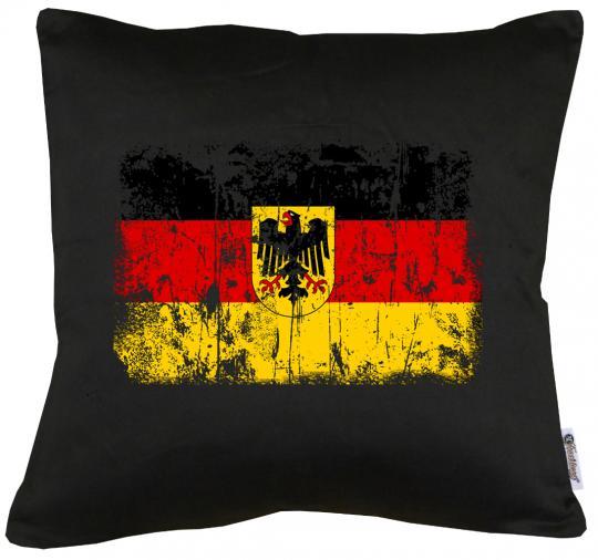 Deutschland BRD Vintage Flagge Fahne Kissen mit Füllung 40x40cm