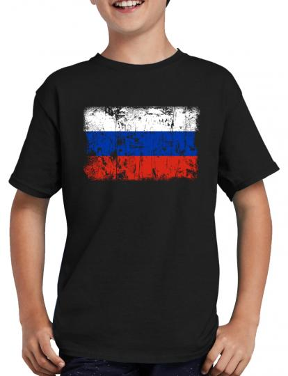 Russland Vintage Flagge Fahne T-Shirt
