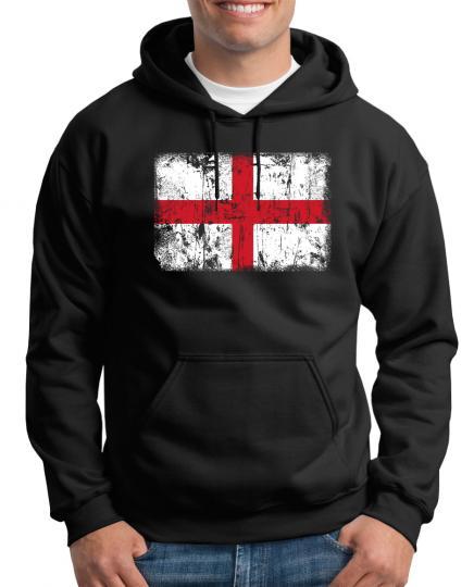 England Vintage Flagge Fahne Kapuzenpullover