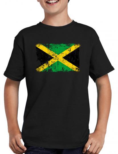 Jamaika Vintage Flagge Fahne T-Shirt