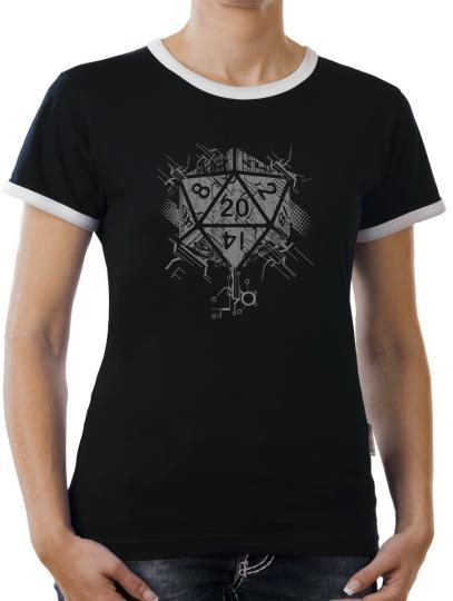 TLM Sided Dice D20 Kontrast T-Shirt Damen