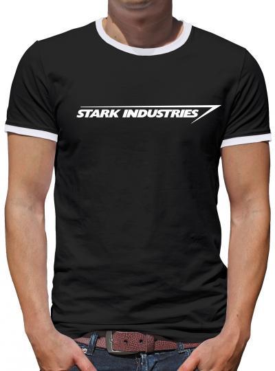 Stark Industries Logo Kontrast T-Shirt Herren
