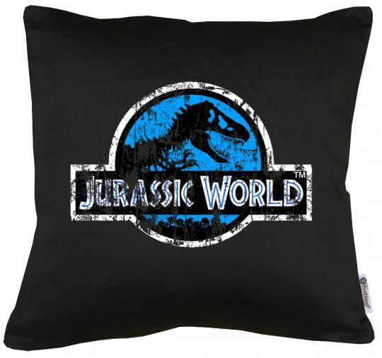 Jurassic World Distressed Logo Kissen mit Füllung 40x40cm