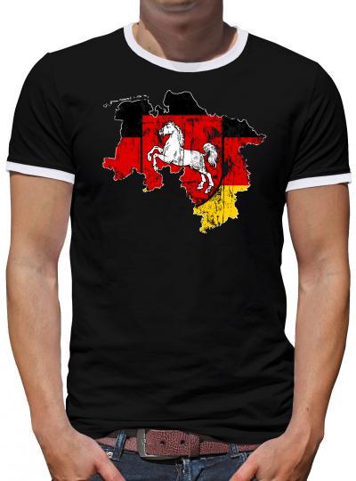 Niedersachsen Bundesland Kontrast T-Shirt Herren
